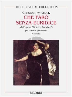 Che Faro Senza Euridice Alto voice - Piano