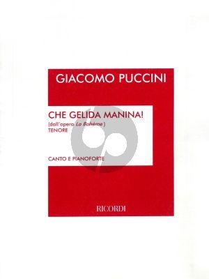 Puccini Che Gelida Manina Tenor (La Boheme)