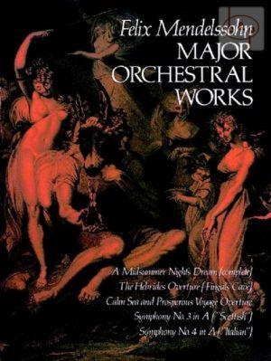 Major Orchestral Works Fullscore