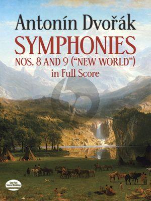 Dvorak Symphonies No. 8 and No.9 Full Score (Dover)