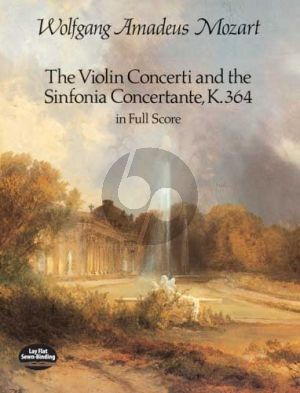 Mozart Concertos for Violin and Sinfonia Concertante KV 364 Full Score