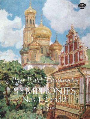 Tchaikovsky Symphonies No.1 - 2 - 3 Fullscore