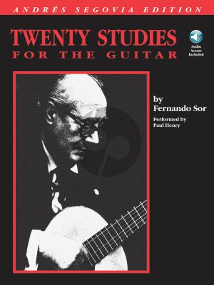 Sor 20 Studies for Guitar (edited and selected by Andres Segovia) (Book with Audio online)
