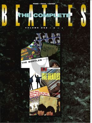 Beatles Complete Volume 1 Piano/Voval/Guitar