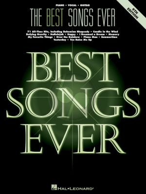 The Best Songs Ever (Piano-Vocal-Guitar) (9th.ed.)