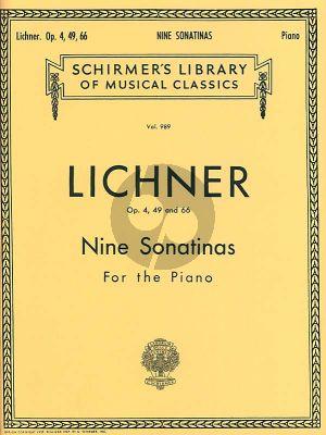 Lichner 9 Sonatinas Opus Op. 4, 49, 66 Piano solo