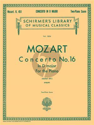Mozart Concerto No.16 in D Major KV 451 (Philipp) Ed. 2 Pianos (2 Copies needed to perform)