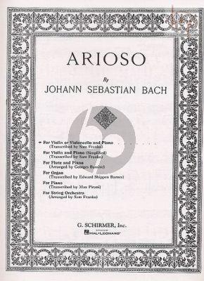 Arioso Violin (or Violoncello) and Piano