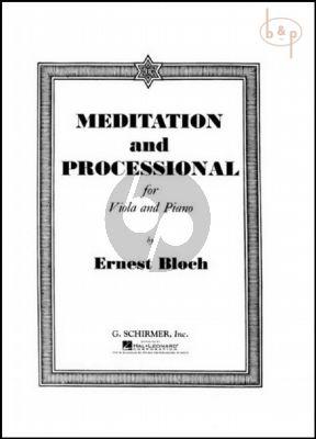 Meditation and Processional Viola-Piano