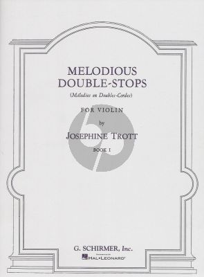 Trott Melodious Double-Stops Vol.1 Violin