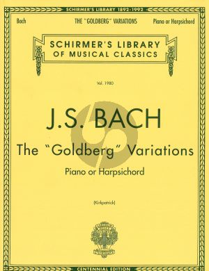 Bach Goldberg Variations piano Kirkpatrick