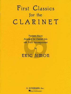 First Classics for the Clarinet for Clarinet (Bb) and Piano