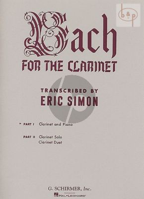 Bach for the Clarinet Volume 1 Clarinet-Piano