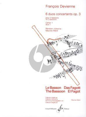 Devienne 6 Duos Concertantes Op. 3 Vol. 1 No. 1 - 3 2 Bassons (Score) (Allard)