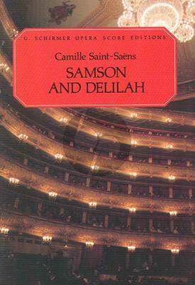 Saint-Saens Samson and Dalila Vocal Score