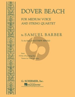 Barber Dover Beach Medium Voice and String Quartet (Set of Instrumental Parts)