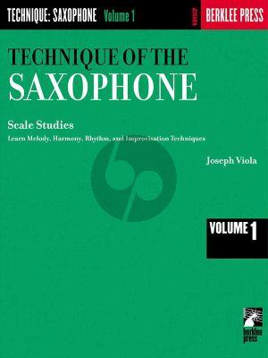 Viola Technique of the Saxophone Vol.1 Scale Studies