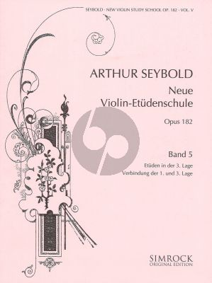 Seybold Neue Violin-Etuden Op.182 Vol.5 (Etuden in der 3. Lage) (Verbindung der 1. und 3. Lage)