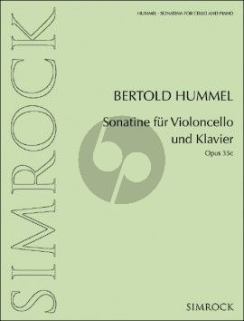 Hummel Sonatine Op. 35c Violoncello und Klavier (1971)