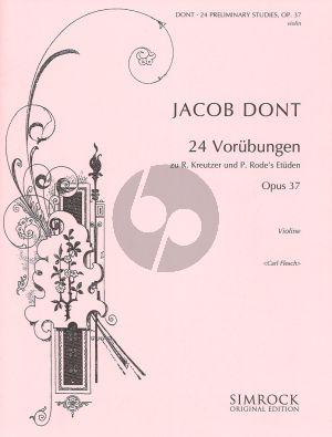 Dont Vorubungen zu Kreutzer und Rode Op.37 Violine (edited by Carl Flesch)