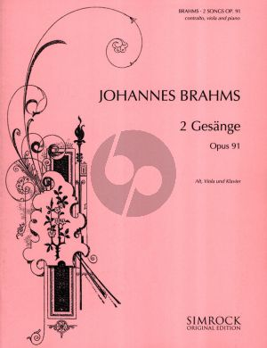 Brahms 2 Songs Op. 91 Alto Voice-Viola-Piano (german-english-french)