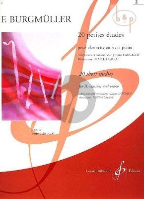 20 Petites Etudes Vol.2 Clarinette et Piano