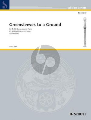 Greensleeves to a Ground Treble Recorder and Piano