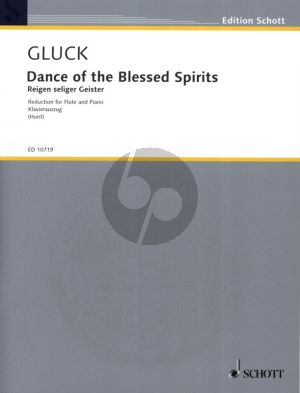 Gluck Dance of the Blessed Spirits from Orpheus and Eurydice for Flute-Piano (edited by Edgar Hunt)