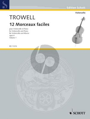 12 Morceaux Faciles Op.4 Vol.1 Cello-Piano