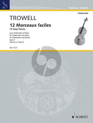 12 Morceaux Faciles Op.4 Vol.2 Cello-Piano