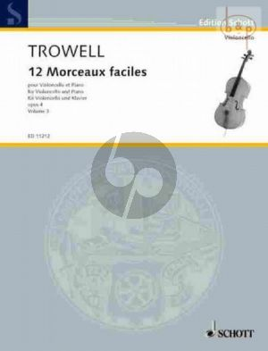 12 Morceaux Faciles Op.4 Vol.3 Cello-Piano