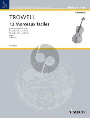 Trowell 12 Morceaux Faciles Op.4 Vol.4 Cello-Piano