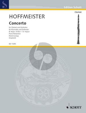 Hoffmeister Concerto B-flat Clarinet and Orchestra (piano reduction) (Alison A. Copland)