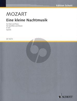 Mozart Eine kleine Nachtmusik KV 525 Flute-Piano (arr. Charles Peter Lynch)