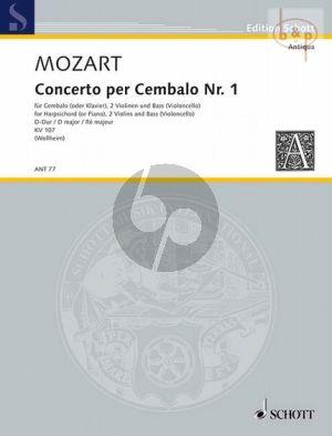 Konzert D-dur KV 107 No.1 (nach Klaviersonaten J.Chr.Bach) (Cembalo- 2 Vi-Bass[Vc.])