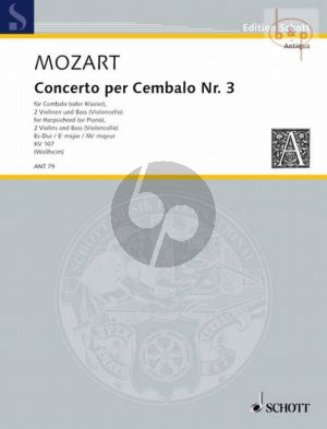 Konzert Es-dur KV 107 No.3 (nach Klaviersonaten J.Chr.Bach) (Cemb.- 2 Vi-Bass[Vc.])