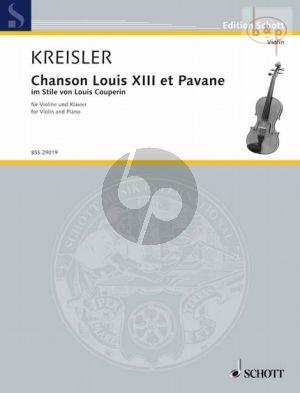 Chanson Louis XIII et Pavane in stile von Louis Couperin
