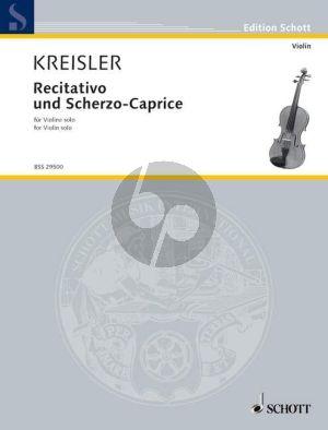 Kreisler Recitativo-Scherzo Caprice Op. 6 Violine solo (Grade 5 - 6)