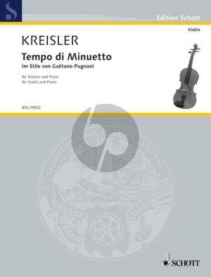 Kreisler Tempo di Menuetto im stile Pugnani Violine und Klavier