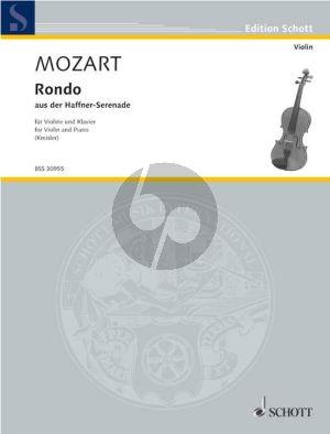 Mozart Rondo (aus Haffner-Serenade KV 250) Violine-Klavier (Fritz Kreisler) (Grade 5)