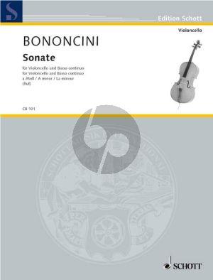 Bononcini Sonata a-minor Violoncello-Bc (Hugo Ruf)