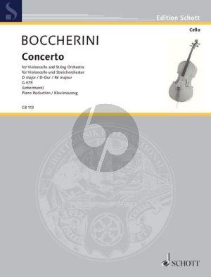 Boccherini Konzert No. 2 D-dur G. 479 Violoncello und Klavier (Walter Lebermann) (mit Cadenzen)