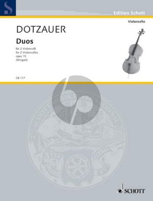 Dotzauer Duos Opus 15 2 Violoncellos (Bernhard Weigart)