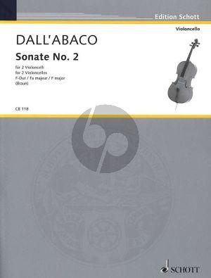 Dall'Abaco Sonata No.2 F-major 2 Violoncellos (Jürgen Braun)