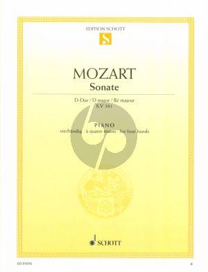 Mozart Sonate D-dur KV 381 Klavier 4 Hd. (Monika Twelsiek)