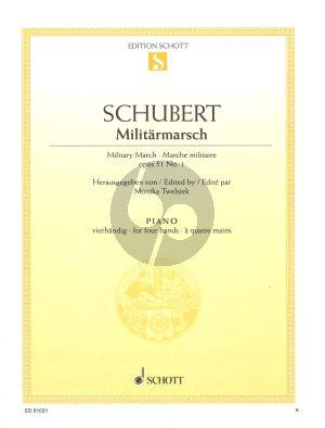 Schubert Marsche Militaire Opus 51 No. 1 D.733.1 Klavier 4Hd (Monika Twelsiek)