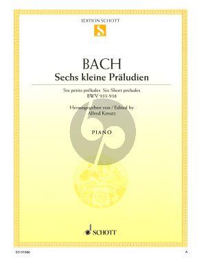 Bach 6 Kleine Praludien BWV 933 - 938 Klavier