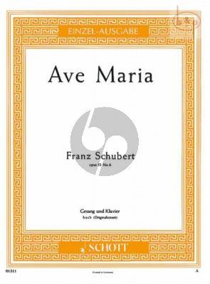 Ave Maria Op.52 No.6 D.839 (Hoch)