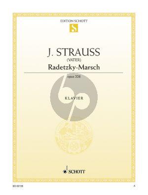 Strauss Radetzky Marsch Op.228 Klavier