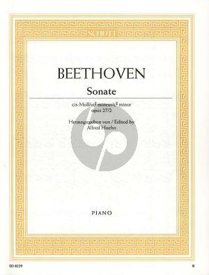 Beethoven Sonate cis-moll Op.27 No.2 Klavier (Mondschein Sonate) (Alfred Hoehn)